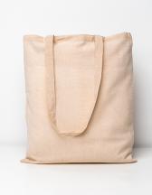 Cotton bag, natural, long handles, Basic
